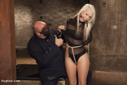 Photo number 5 from All Natural Darci Belle First Time Bound shot for Hogtied on Kink.com. Featuring Sgt. Major and Darcie Belle in hardcore BDSM & Fetish porn.
