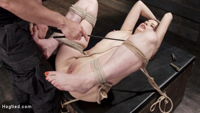 Photo number 7 from Hot Brunette in Orgasm Predicaments shot for Hogtied on Kink.com. Featuring Freya French in hardcore BDSM & Fetish porn.