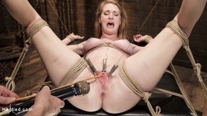 Photo number 13 from Hot Blonde Squealer in Intense Orgasm Overload shot for Hogtied on Kink.com. Featuring Ashley Lane in hardcore BDSM & Fetish porn.
