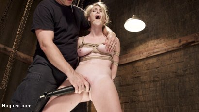 Photo number 6 from Hot Blonde Squealer in Intense Orgasm Overload shot for Hogtied on Kink.com. Featuring Ashley Lane in hardcore BDSM & Fetish porn.