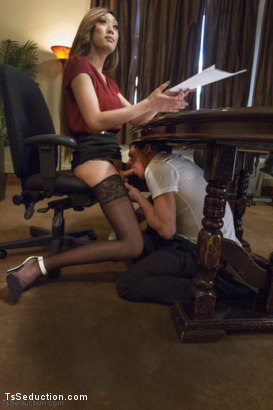Photo number 5 from Take Your Blackmail and SHOVE IT UP YOUR ass on the end of My Cock shot for TS Seduction on Kink.com. Featuring Venus Lux and Alexander Gustavo in hardcore BDSM & Fetish porn.