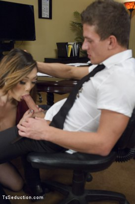 Photo number 2 from Take Your Blackmail and SHOVE IT UP YOUR ass on the end of My Cock shot for TS Seduction on Kink.com. Featuring Venus Lux and Alexander Gustavo in hardcore BDSM & Fetish porn.