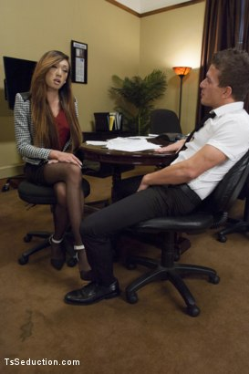 Photo number 1 from Take Your Blackmail and SHOVE IT UP YOUR ass on the end of My Cock shot for TS Seduction on Kink.com. Featuring Venus Lux and Alexander Gustavo in hardcore BDSM & Fetish porn.