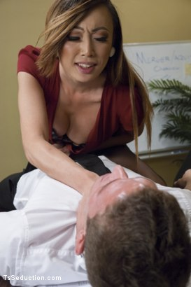 Photo number 3 from Take Your Blackmail and SHOVE IT UP YOUR ass on the end of My Cock shot for TS Seduction on Kink.com. Featuring Venus Lux and Alexander Gustavo in hardcore BDSM & Fetish porn.