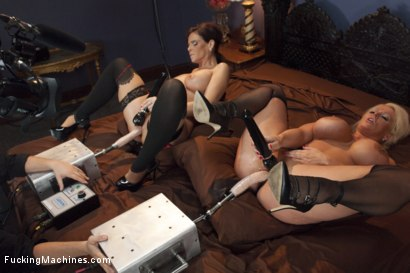 Photo number 11 from MILF WARS - Alura Jens0n and Syren De Mer vs. THE MACHINES shot for Fucking Machines on Kink.com. Featuring Alura Jenson and Syren de Mer in hardcore BDSM & Fetish porn.