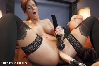 Photo number 12 from MILF WARS - Alura Jens0n and Syren De Mer vs. THE MACHINES shot for Fucking Machines on Kink.com. Featuring Alura Jenson and Syren de Mer in hardcore BDSM & Fetish porn.