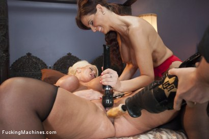 Photo number 6 from MILF WARS - Alura Jens0n and Syren De Mer vs. THE MACHINES shot for Fucking Machines on Kink.com. Featuring Alura Jenson and Syren de Mer in hardcore BDSM & Fetish porn.