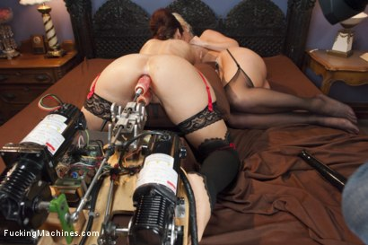 Photo number 7 from MILF WARS - Alura Jens0n and Syren De Mer vs. THE MACHINES shot for Fucking Machines on Kink.com. Featuring Alura Jenson and Syren de Mer in hardcore BDSM & Fetish porn.