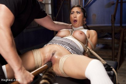 Photo number 9 from Mia Li's First Anal Bondage shot for Hogtied on Kink.com. Featuring Mia Little in hardcore BDSM & Fetish porn.