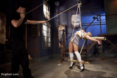 Photo number 2 from Mia Li's First Anal Bondage shot for Hogtied on Kink.com. Featuring Mia Little in hardcore BDSM & Fetish porn.