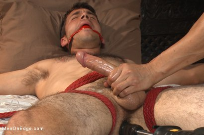 Photo number 13 from Drop Dead Handsome - Super Straight - Big Cock - First Time on Video shot for Men On Edge on Kink.com. Featuring Atticus Cole in hardcore BDSM & Fetish porn.