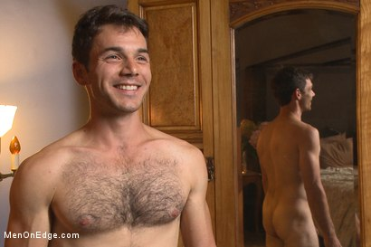 Photo number 15 from Drop Dead Handsome - Super Straight - Big Cock - First Time on Video shot for Men On Edge on Kink.com. Featuring Atticus Cole in hardcore BDSM & Fetish porn.