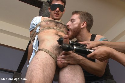 Photo number 5 from Drop Dead Handsome - Super Straight - Big Cock - First Time on Video shot for Men On Edge on Kink.com. Featuring Atticus Cole in hardcore BDSM & Fetish porn.