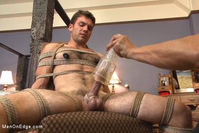 Photo number 10 from Drop Dead Handsome - Super Straight - Big Cock - First Time on Video shot for Men On Edge on Kink.com. Featuring Atticus Cole in hardcore BDSM & Fetish porn.