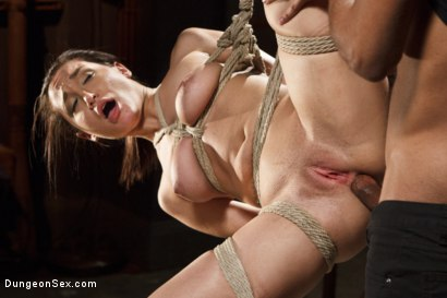 Photo number 5 from Chained, Tied, and Ass Fucked with a Massive Cock! shot for Dungeon Sex on Kink.com. Featuring Gabriella Paltrova and Mickey Mod in hardcore BDSM & Fetish porn.