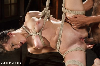 Photo number 6 from Chained, Tied, and Ass Fucked with a Massive Cock! shot for Dungeon Sex on Kink.com. Featuring Gabriella Paltrova and Mickey Mod in hardcore BDSM & Fetish porn.
