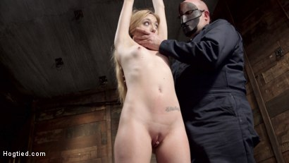 Photo number 10 from Sexy Blonde with Little Tits Manhandled! shot for Hogtied on Kink.com. Featuring Sgt. Major and Emma Haize in hardcore BDSM & Fetish porn.