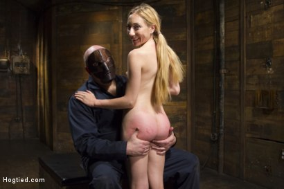 Photo number 14 from Sexy Blonde with Little Tits Manhandled! shot for Hogtied on Kink.com. Featuring Sgt. Major and Emma Haize in hardcore BDSM & Fetish porn.