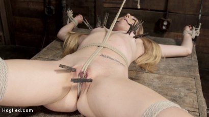 Photo number 12 from Sexy Blonde with Little Tits Manhandled! shot for Hogtied on Kink.com. Featuring Sgt. Major and Emma Haize in hardcore BDSM & Fetish porn.