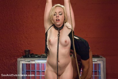 Photo number 4 from Fresh Face Bondage Virgin shot for Sex And Submission on Kink.com. Featuring Miley May and Ramon Nomar in hardcore BDSM & Fetish porn.