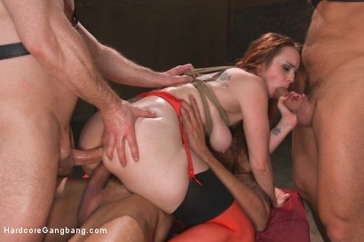 Photo number 4 from Queen pussy stuffed chock full of cock and cum! shot for Hardcore Gangbang on Kink.com. Featuring Bella Rossi, John Strong, Karlo Karrera, Owen Gray, Ramon Nomar and James Bondage in hardcore BDSM & Fetish porn.
