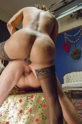 Photo number 6 from Wife Swapping, Husband Swapping, Creampie Christmas Threesome shot for TS Seduction on Kink.com. Featuring Jessy Dubai , Reed Jameson and Holly Heart in hardcore BDSM & Fetish porn.