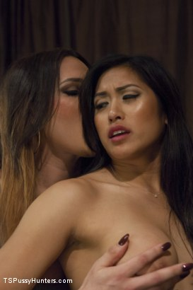 Photo number 4 from Customer Service For The Holidays- last night on the Job leads to SEX! shot for TS Pussy Hunters on Kink.com. Featuring Lana Knight and Mia Li in hardcore BDSM & Fetish porn.