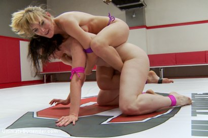 Photo number 7 from Giant Loser, Utterly Humiliated in wrestling and prize rounds shot for Ultimate Surrender on Kink.com. Featuring Mona Wales and Pink in hardcore BDSM & Fetish porn.
