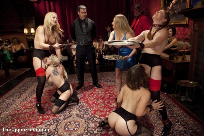 Photo number 3 from Costume Anal Orgy, Part One shot for The Upper Floor on Kink.com. Featuring Ramon Nomar, Penny Pax, Aiden Starr, Bill Bailey, Christie Stevens, Yhivi and Simone Sonay in hardcore BDSM & Fetish porn.