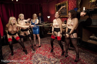 Photo number 2 from Costume Anal Orgy, Part One shot for The Upper Floor on Kink.com. Featuring Ramon Nomar, Penny Pax, Aiden Starr, Bill Bailey, Christie Stevens, Yhivi and Simone Sonay in hardcore BDSM & Fetish porn.
