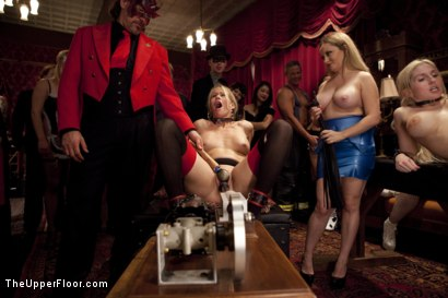 Photo number 12 from Costume Anal Orgy, Part One shot for The Upper Floor on Kink.com. Featuring Ramon Nomar, Penny Pax, Aiden Starr, Bill Bailey, Christie Stevens, Yhivi and Simone Sonay in hardcore BDSM & Fetish porn.