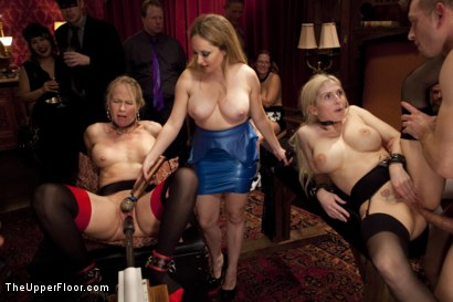 Photo number 14 from Costume Anal Orgy, Part One shot for The Upper Floor on Kink.com. Featuring Ramon Nomar, Penny Pax, Aiden Starr, Bill Bailey, Christie Stevens, Yhivi and Simone Sonay in hardcore BDSM & Fetish porn.
