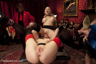 Photo number 4 from Costume Anal Orgy, Part One shot for The Upper Floor on Kink.com. Featuring Ramon Nomar, Penny Pax, Aiden Starr, Bill Bailey, Christie Stevens, Yhivi and Simone Sonay in hardcore BDSM & Fetish porn.