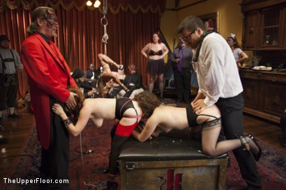 Photo number 5 from Costume Anal Orgy Part 2 shot for The Upper Floor on Kink.com. Featuring Ramon Nomar, Penny Pax, Aiden Starr, Bill Bailey, Christie Stevens, Yhivi and Simone Sonay in hardcore BDSM & Fetish porn.