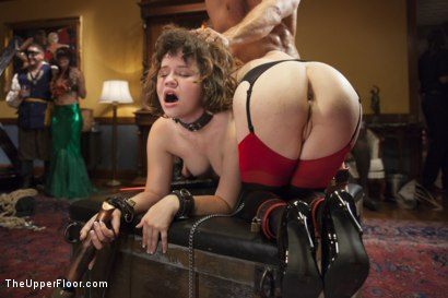 Photo number 8 from Costume Anal Orgy Part 2 shot for The Upper Floor on Kink.com. Featuring Ramon Nomar, Penny Pax, Aiden Starr, Bill Bailey, Christie Stevens, Yhivi and Simone Sonay in hardcore BDSM & Fetish porn.