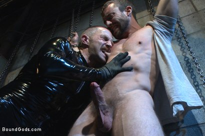Photo number 1 from Unwilling Onyx Recruit Mike Gaite - The Onyx & The Redz Series shot for Bound Gods on Kink.com. Featuring Adam Herst and Mike Gaite in hardcore BDSM & Fetish porn.