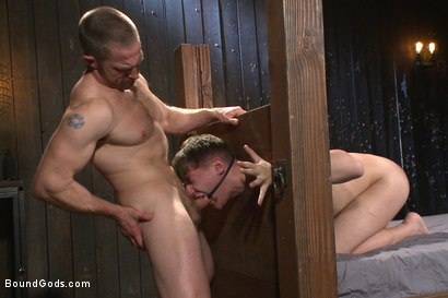 Photo number 9 from Helpless boy beaten into submission and made to swallow cum shot for Bound Gods on Kink.com. Featuring Adam Herst and Dakota Wolfe in hardcore BDSM & Fetish porn.