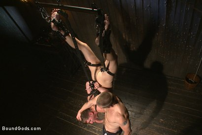 Photo number 6 from Helpless boy beaten into submission and made to swallow cum shot for Bound Gods on Kink.com. Featuring Adam Herst and Dakota Wolfe in hardcore BDSM & Fetish porn.