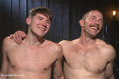 Photo number 15 from Helpless boy beaten into submission and made to swallow cum shot for Bound Gods on Kink.com. Featuring Adam Herst and Dakota Wolfe in hardcore BDSM & Fetish porn.