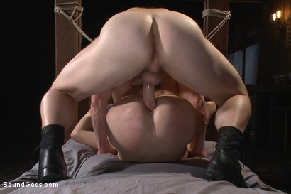 Photo number 12 from Helpless boy beaten into submission and made to swallow cum shot for Bound Gods on Kink.com. Featuring Adam Herst and Dakota Wolfe in hardcore BDSM & Fetish porn.