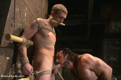 Photo number 4 from New sub endures bamboo torture! shot for Bound Gods on Kink.com. Featuring Zane Anders and Jaxton Wheeler in hardcore BDSM & Fetish porn.