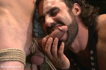 Photo number 5 from New sub endures bamboo torture! shot for Bound Gods on Kink.com. Featuring Zane Anders and Jaxton Wheeler in hardcore BDSM & Fetish porn.
