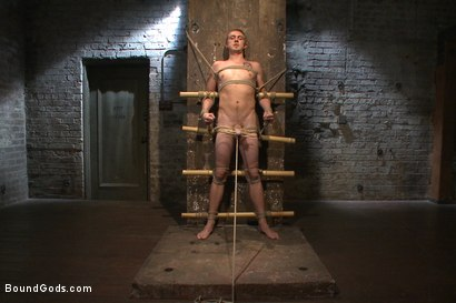Photo number 1 from New sub endures bamboo torture! shot for Bound Gods on Kink.com. Featuring Zane Anders and Jaxton Wheeler in hardcore BDSM & Fetish porn.