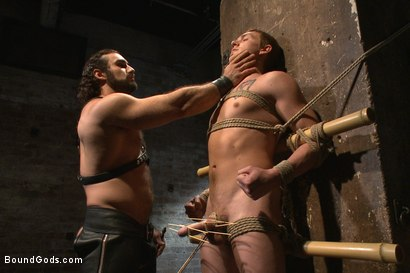 Photo number 3 from New sub endures bamboo torture! shot for Bound Gods on Kink.com. Featuring Zane Anders and Jaxton Wheeler in hardcore BDSM & Fetish porn.