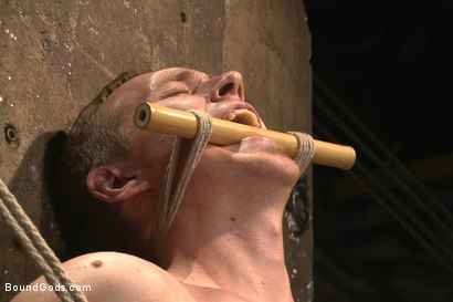 Photo number 6 from New sub endures bamboo torture! shot for Bound Gods on Kink.com. Featuring Zane Anders and Jaxton Wheeler in hardcore BDSM & Fetish porn.
