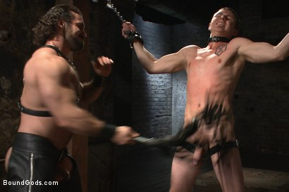 Photo number 7 from New sub endures bamboo torture! shot for Bound Gods on Kink.com. Featuring Zane Anders and Jaxton Wheeler in hardcore BDSM & Fetish porn.