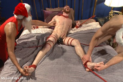 Photo number 14 from Happy Holidays Live Shoot - Vanta Claus brings two gifts for you! shot for Men On Edge on Kink.com. Featuring Jonah Marx and Sebastian Keys in hardcore BDSM & Fetish porn.