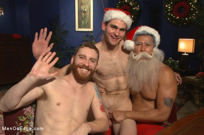 Photo number 15 from Happy Holidays Live Shoot - Vanta Claus brings two gifts for you! shot for Men On Edge on Kink.com. Featuring Jonah Marx and Sebastian Keys in hardcore BDSM & Fetish porn.