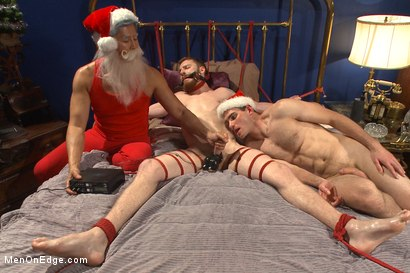Photo number 10 from Happy Holidays Live Shoot - Vanta Claus brings two gifts for you! shot for Men On Edge on Kink.com. Featuring Jonah Marx and Sebastian Keys in hardcore BDSM & Fetish porn.