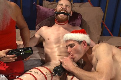 Photo number 13 from Happy Holidays Live Shoot - Vanta Claus brings two gifts for you! shot for Men On Edge on Kink.com. Featuring Jonah Marx and Sebastian Keys in hardcore BDSM & Fetish porn.
